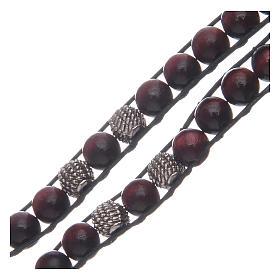 Bracelet avec grains bois de palissandre 8 mm St Benoît s3