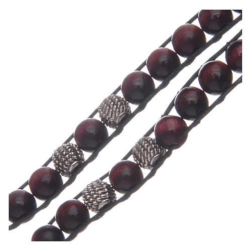 Bracelet avec grains bois de palissandre 8 mm St Benoît 3