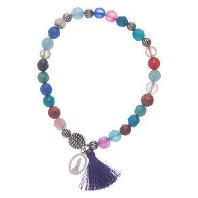 Bracciale Madonna Loreto con grani multicolore s2