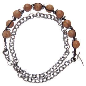 Dozen rosary bracelet with olive wood grains sized 8 mm s1