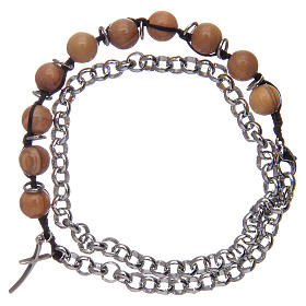 Dozen rosary bracelet with olive wood grains sized 8 mm s2