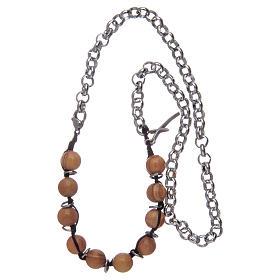 Dozen rosary bracelet with olive wood grains sized 8 mm s3