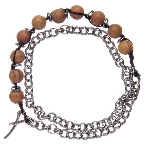 Dozen rosary bracelet with olive wood grains sized 8 mm 2