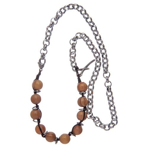 Dozen rosary bracelet with olive wood grains sized 8 mm 3