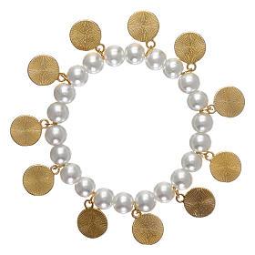grandi affari super speciali comprare nuovo Braccialetto perla bianca con santi | vendita online su HOLYART