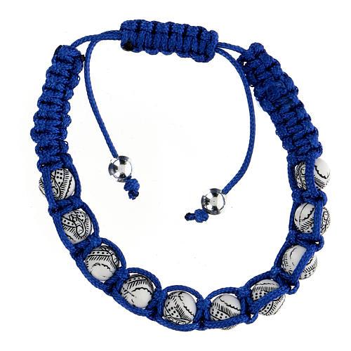 Bracciale Decina Madonna Guadalupe corda blu 5 mm 2