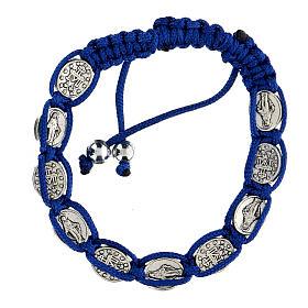 Bracciale Decina Madonna corda blu 6 mm s2
