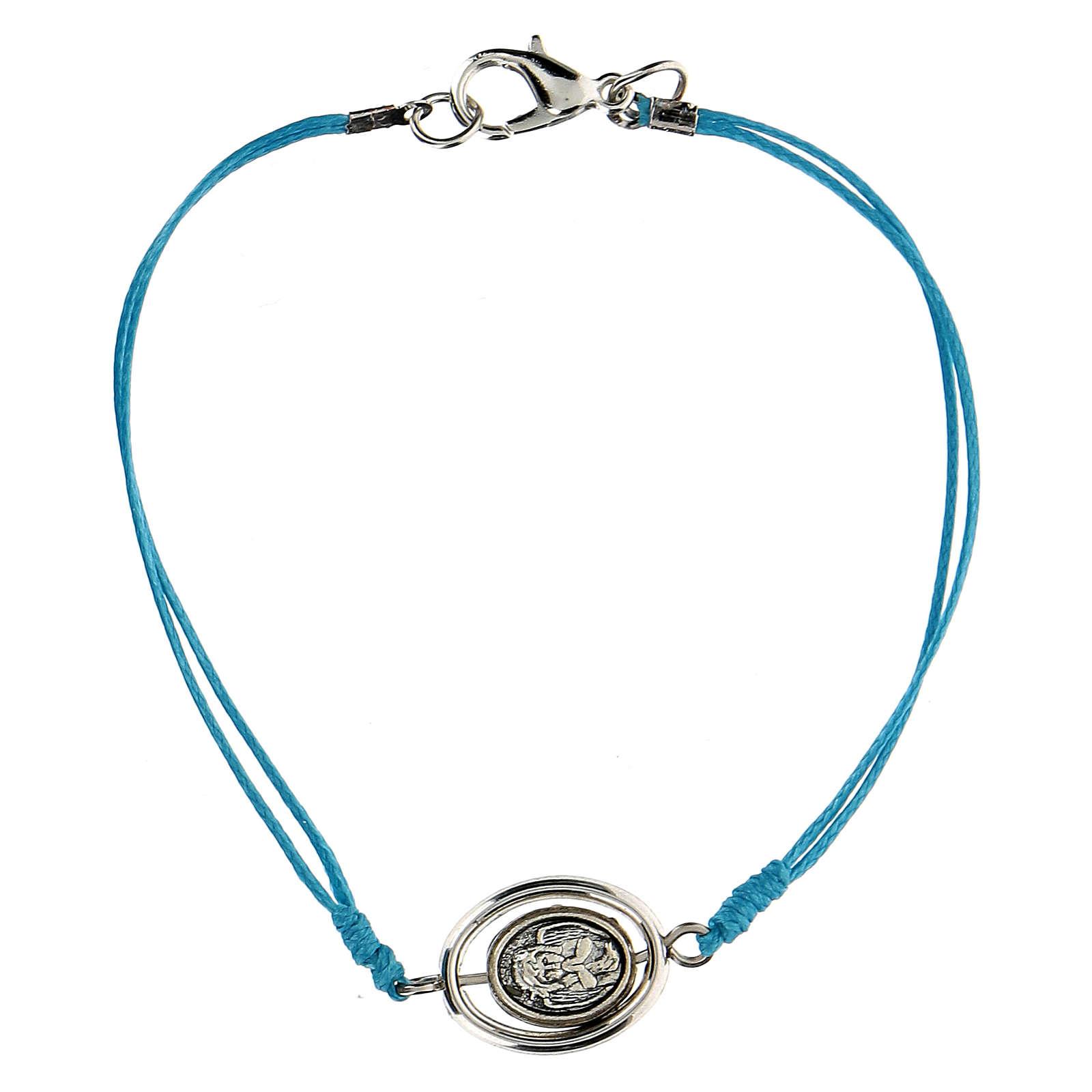 Braccialetto Angioletto corda azzurra 9 mm 4