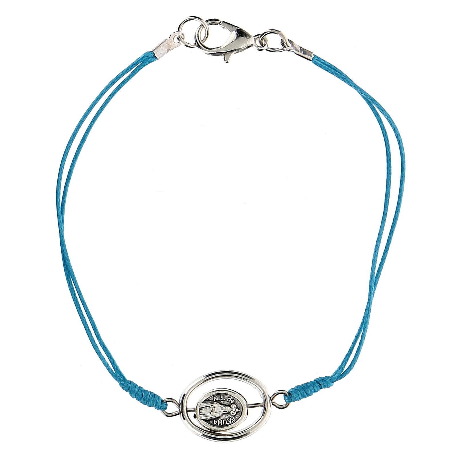 Pulsera Virgen de Fátima cuerda azul 9 mm 4