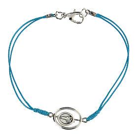 Pulsera Virgen de Fátima cuerda azul 9 mm s2