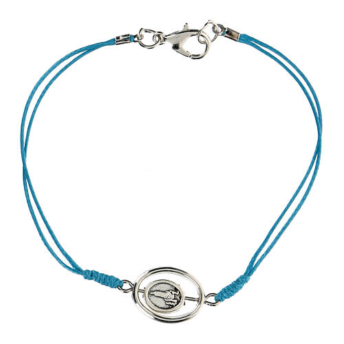 Pulsera Virgen de Fátima cuerda azul 9 mm 2