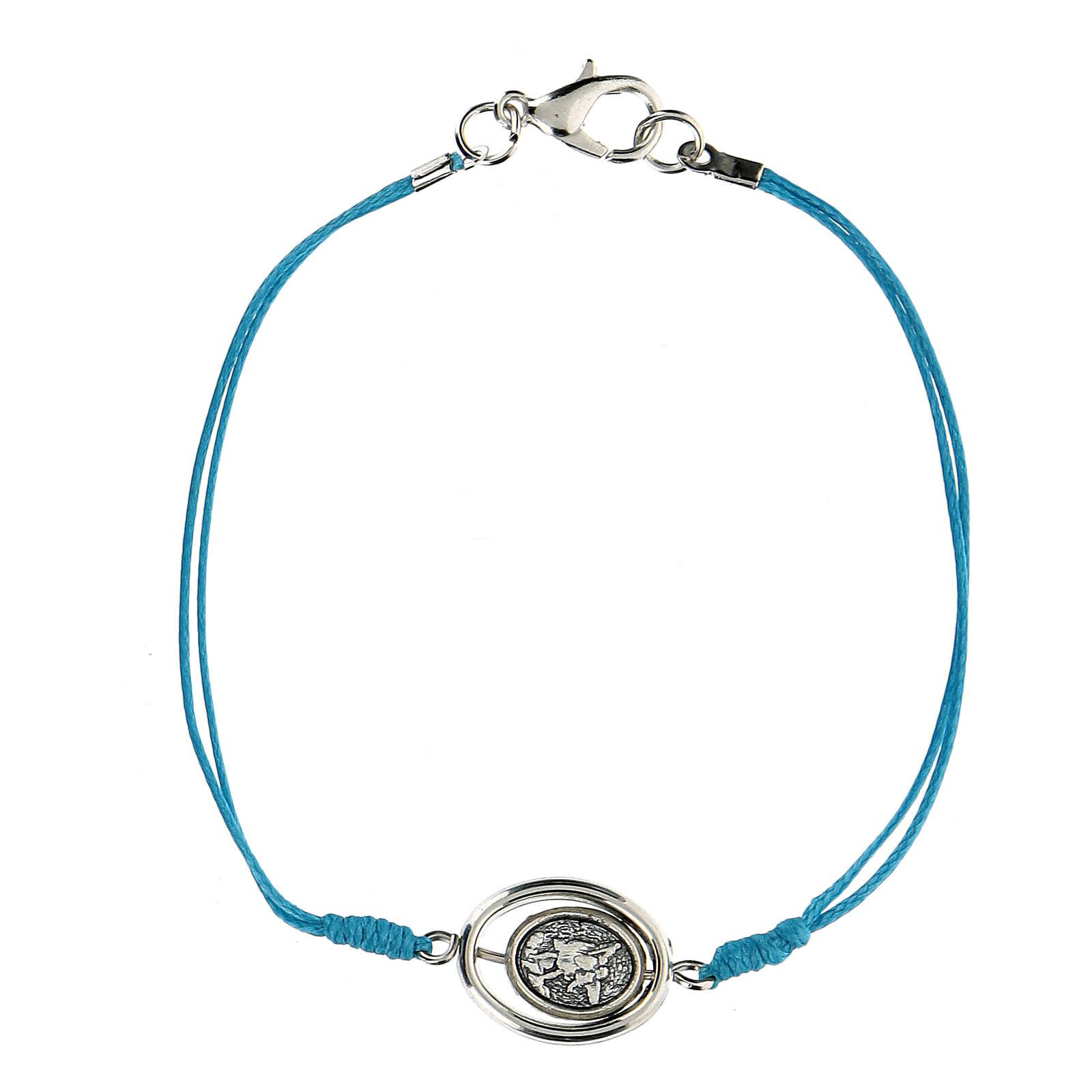 Braccialetto Angioletti corda azzurra 9 mm 4