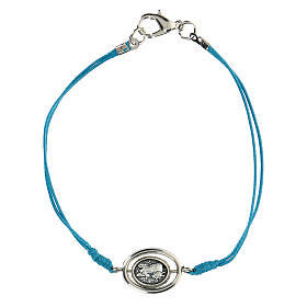 Braccialetto Angioletti corda azzurra 9 mm s1