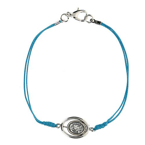 Braccialetto Angioletti corda azzurra 9 mm 2