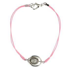 Pulsera Angelito cuerda rosa 9 mm s2