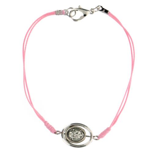 Pulsera Angelito cuerda rosa 9 mm 2