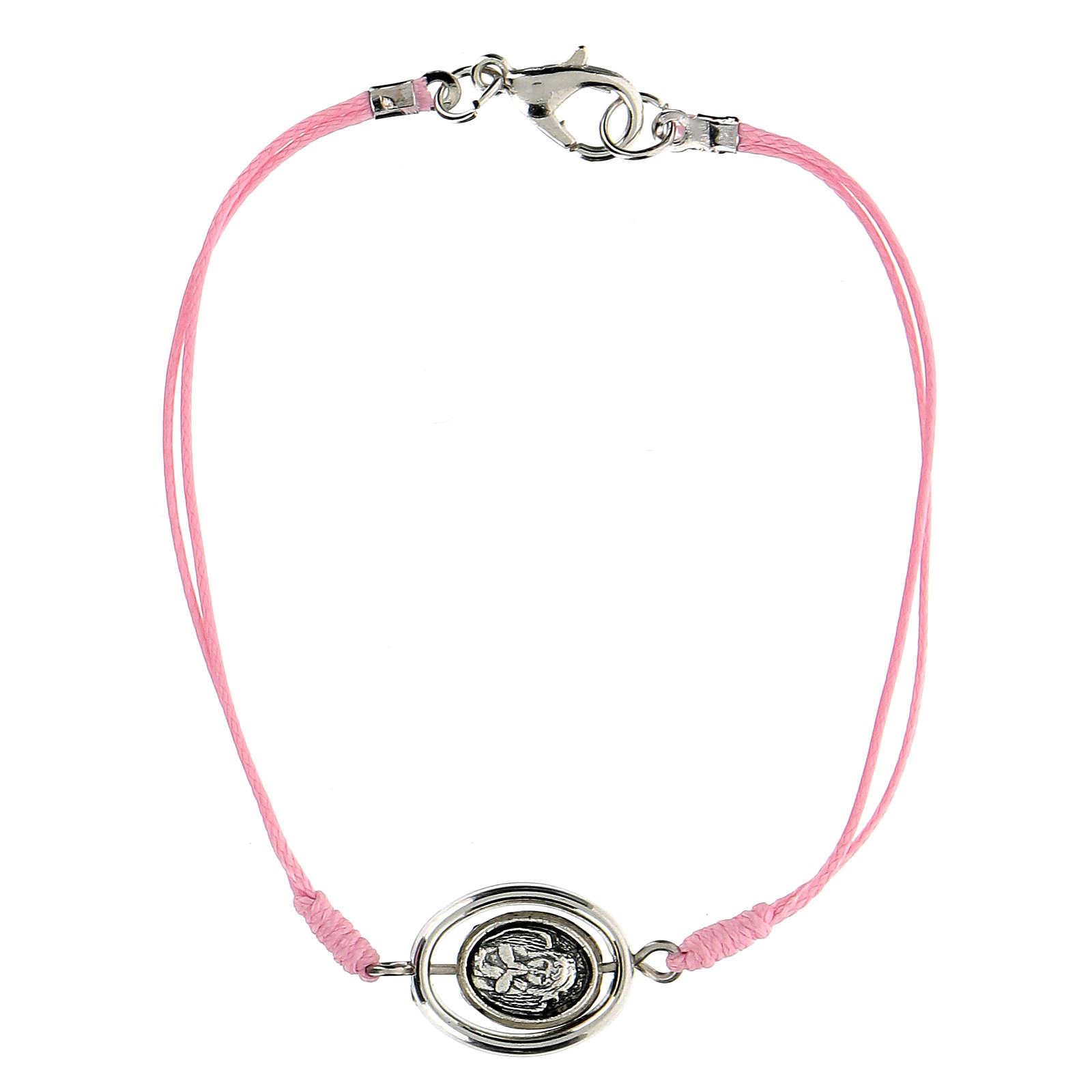 Braccialetto Angioletto corda rosa 9 mm 4
