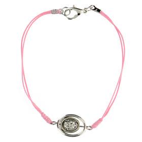 Braccialetto Angioletto corda rosa 9 mm s2