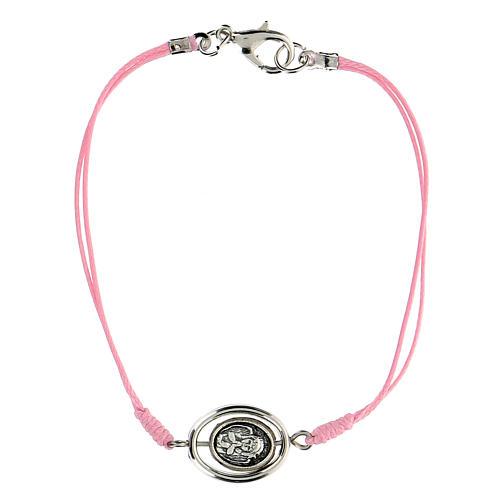 Braccialetto Angioletto corda rosa 9 mm 1