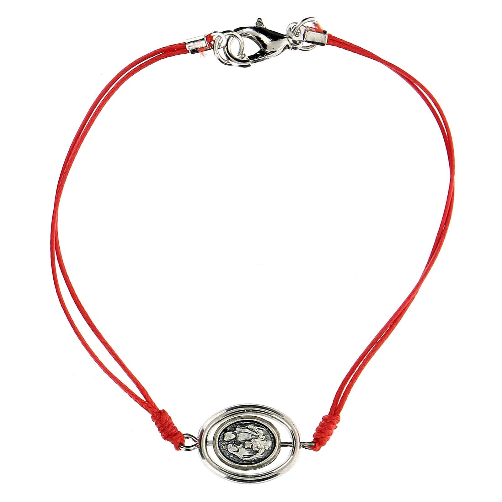 Bracelet Sainte Famille corde rouge 9 mm 4