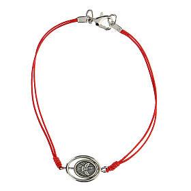 Braccialetto Santa Famiglia corda rossa 9 mm s2