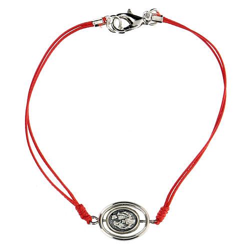 Braccialetto Santa Famiglia corda rossa 9 mm 1