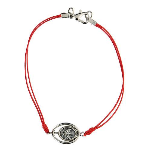 Braccialetto Santa Famiglia corda rossa 9 mm 2