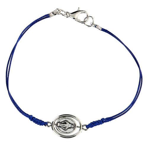Braccialetto Madonna Miracolosa corda blu 9 mm 1