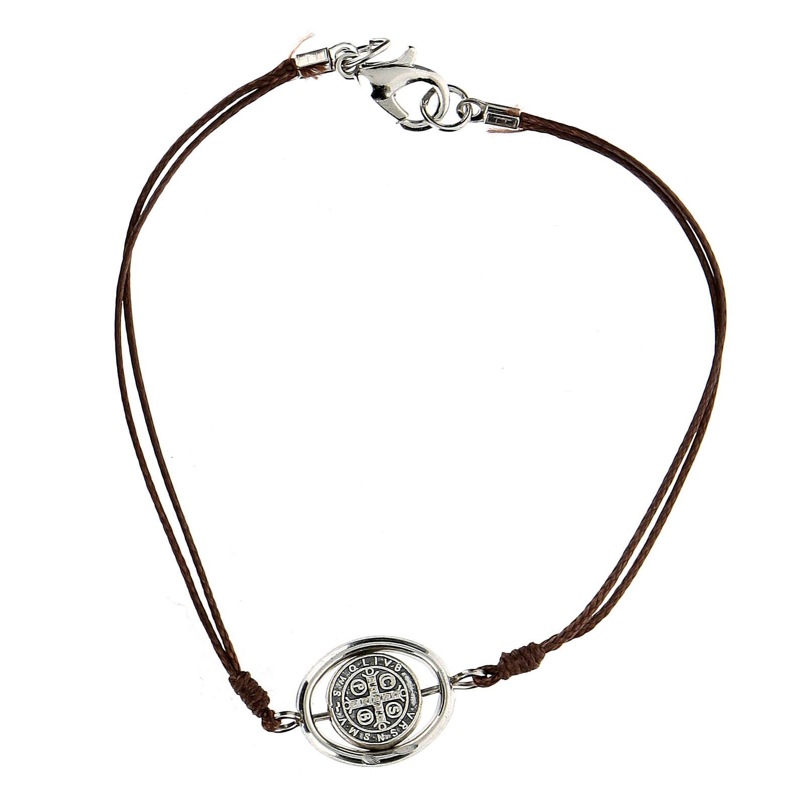 Bracelet Saint Benoît corde marron 9 mm 4