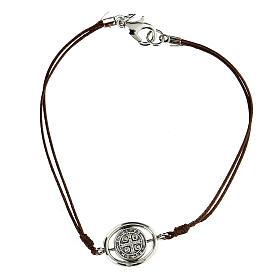 Bracelet Saint Benoît corde marron 9 mm s2