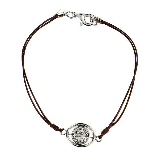 Bracelet Saint Benoît corde marron 9 mm 1