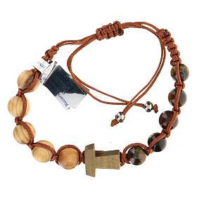 Ten-bead Tau bracelet in wood 5 mm s1