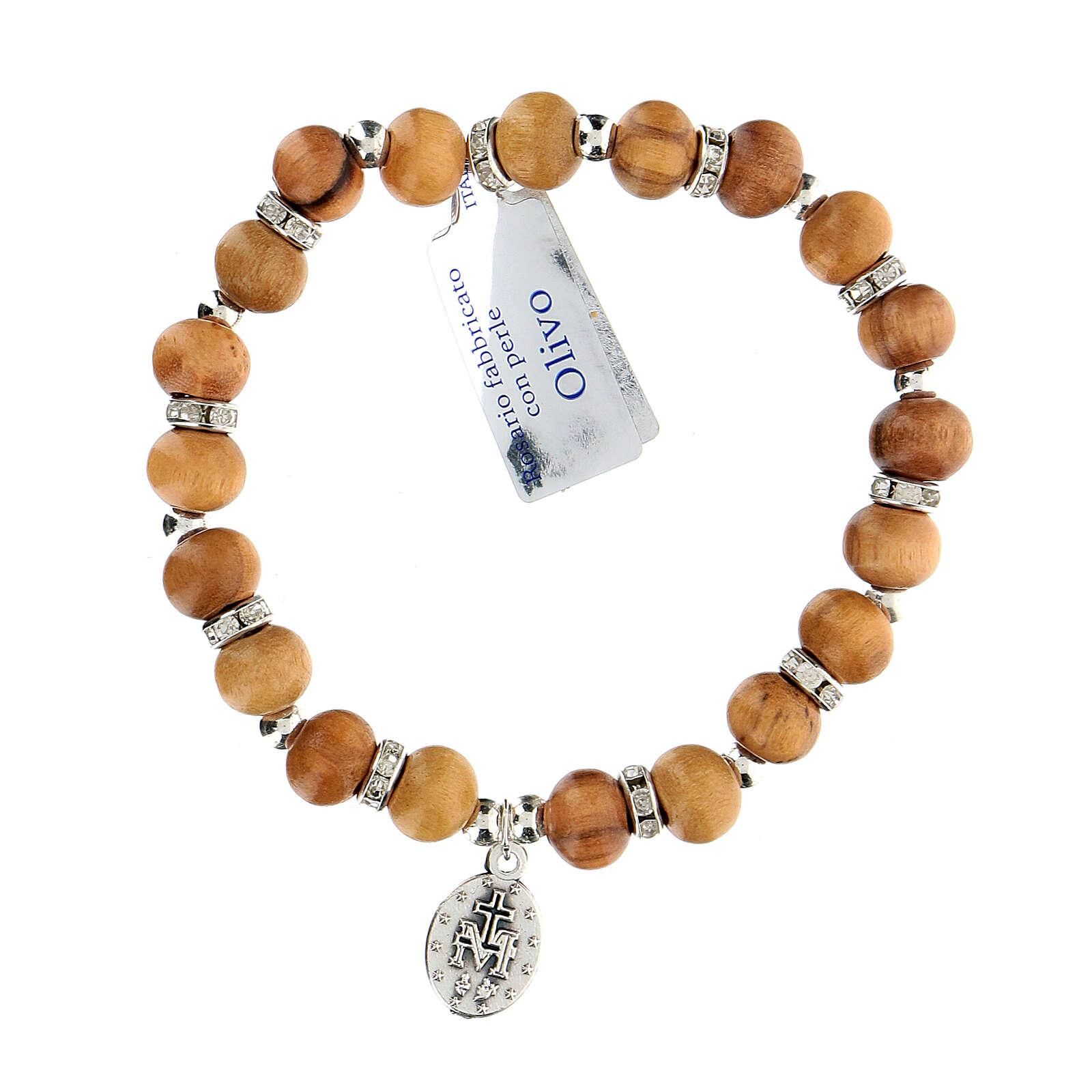 Elastic bracelet with Our Lady of Miracles 5 mm 4
