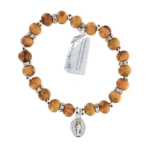 Elastic bracelet with Our Lady of Miracles 5 mm 2