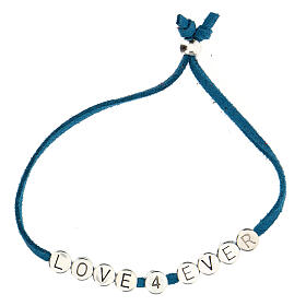 Bracelet Love 4 Ever alcantara turquoise s2