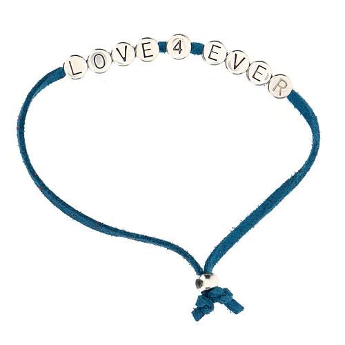 Bracelet Love 4 Ever alcantara turquoise 1