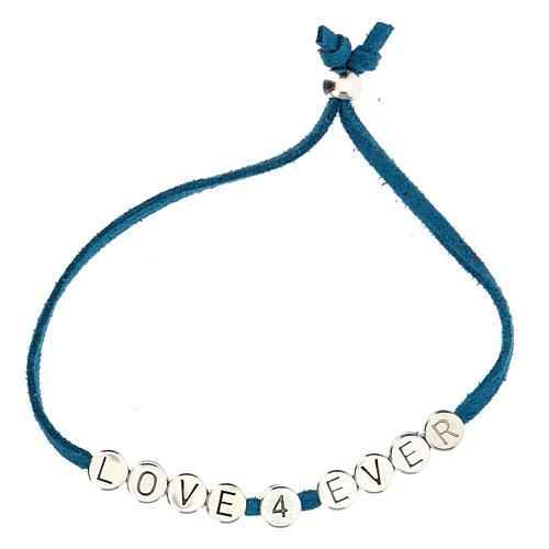 Bracelet Love 4 Ever alcantara turquoise 2