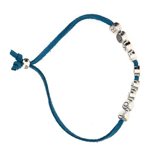 Bracelet Love 4 Ever alcantara turquoise 3