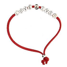 Bracciale alcantara rossa Love 4 Ever s1