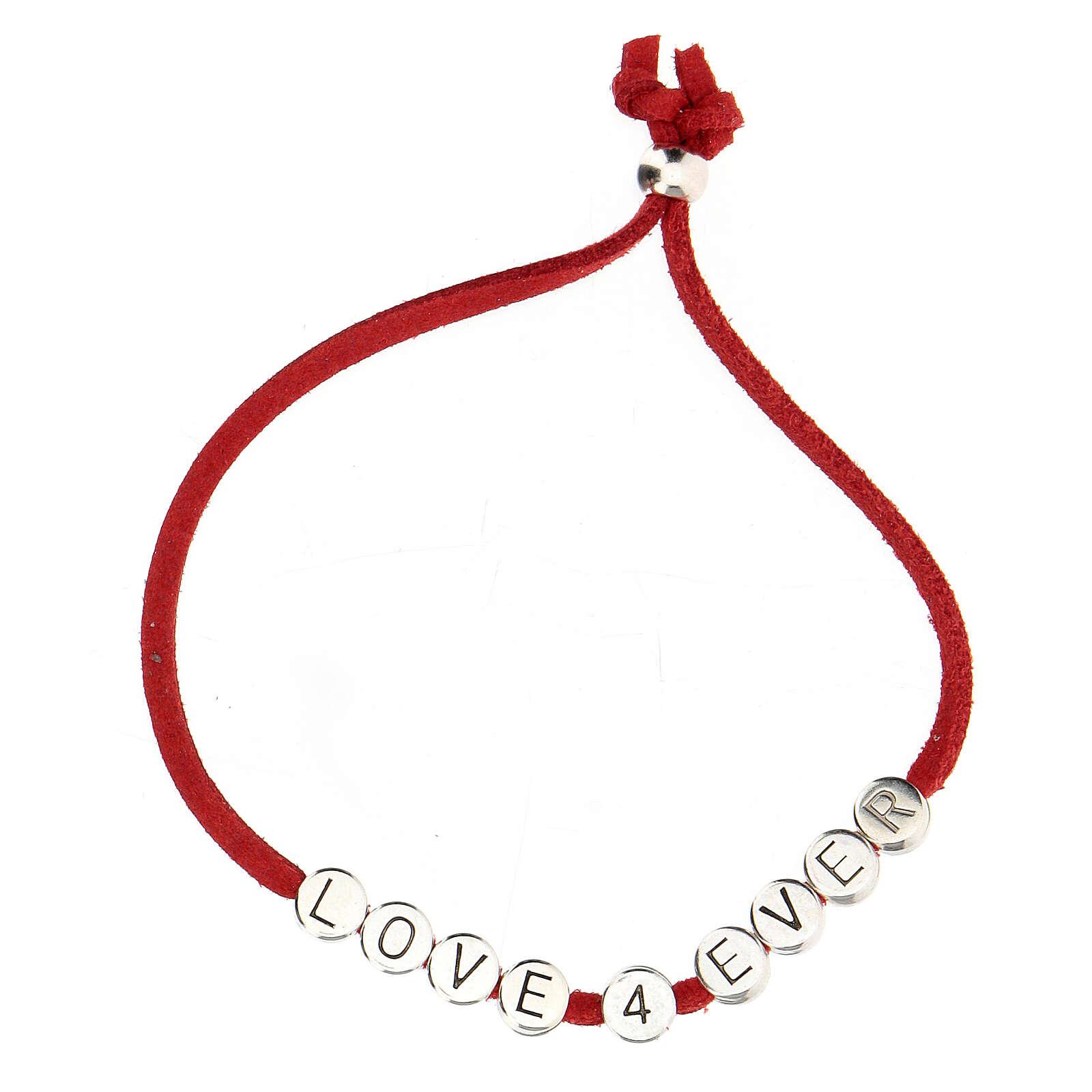 Love 4 Ever bracelet, in red alcantara 4