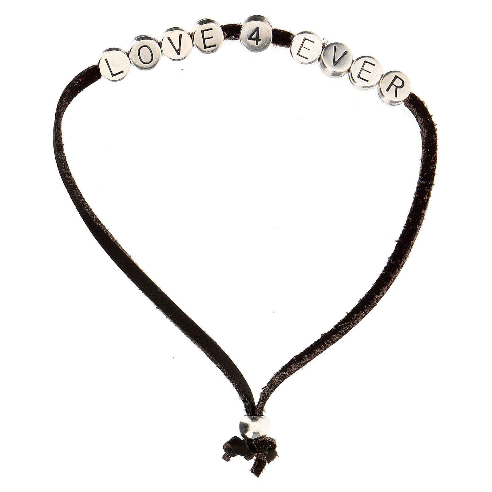 Bracelet Love 4 Ever alcantara marron 4