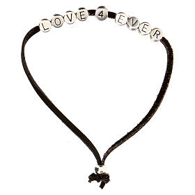 Bracelet Love 4 Ever alcantara marron s1