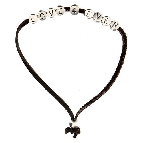Bracelet Love 4 Ever alcantara marron 1