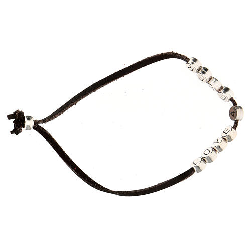 Bracelet Love 4 Ever alcantara marron 3