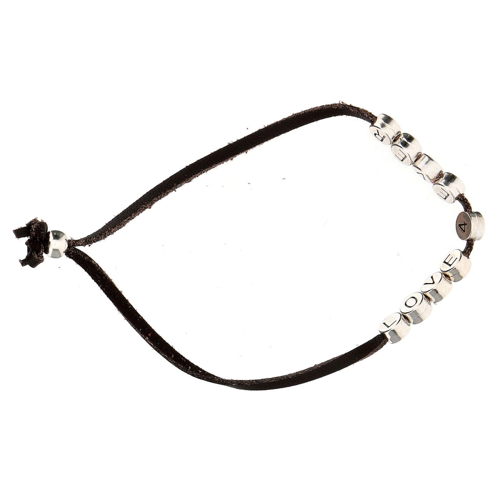 Love 4 Ever bracelet, in brown alcantara 4
