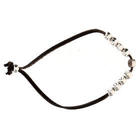 Love 4 Ever bracelet, in brown alcantara s3