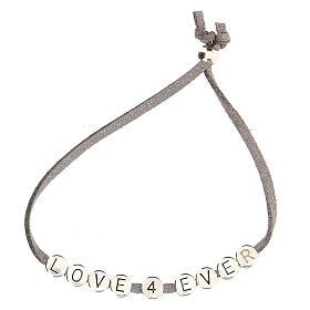 Love 4 Ever bracelet, in grey alcantara zamak s2