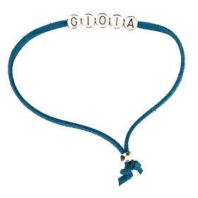 Bracelet Gioia alcantara turquoise s1