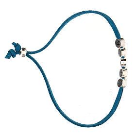 Bracelet Gioia alcantara turquoise s3