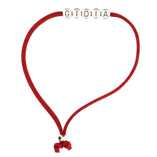 Bracelet Gioia alcantara rouge 1